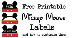 mickey mouse labels free printable paper trail design