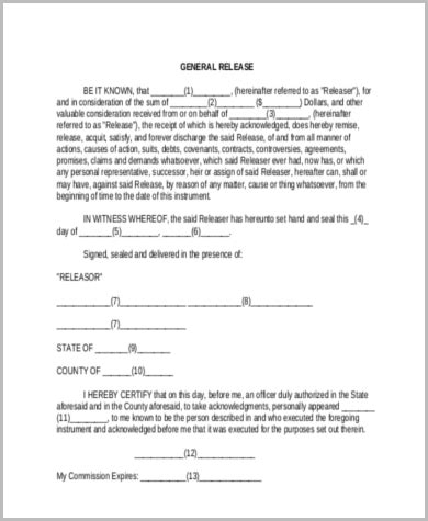 General Release Document