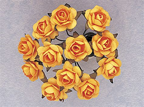 Small Paper Flowers Craft - 1 2 quot gold yellow small craft paper flowers pack of