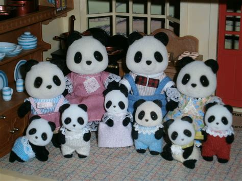 Bamboo Family by The Bamboo Panda Family Sylvanian Families