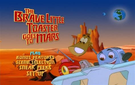 Brave Little Toaster Goes To Mars The Brave Little Toaster Goes To Mars 1998 Dvd Movie Menus