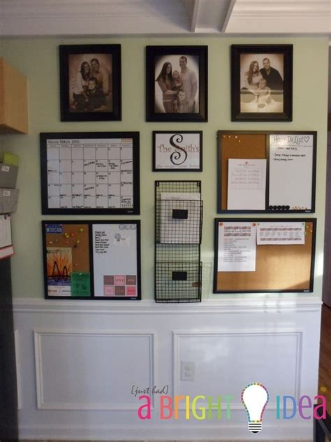 kitchen wall organization ideas kitchen command center repurposed organized