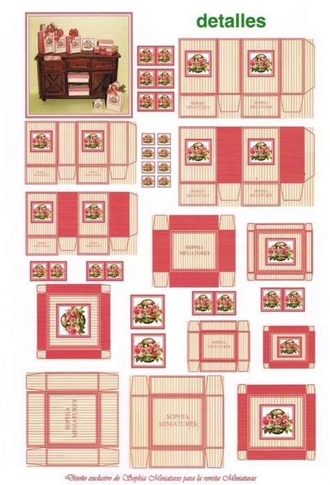 miniatures y dollhouse plantillas 239 best mini printables box images on