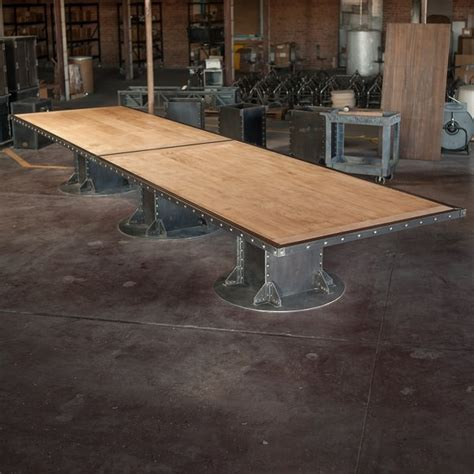 maple industrial conference table inspirations for home