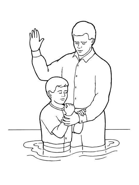 boy missionary coloring page young boy baptism