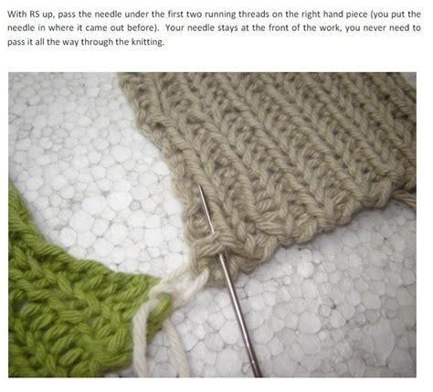 How To Do Mattress Stitch In Knitting by Mattress Stitch On Ribbing 183 How To Knit 183 Yarncraft On