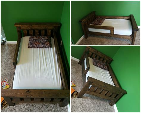 rustic toddler bed rustic farmhouse toddler bed built from ana white plans