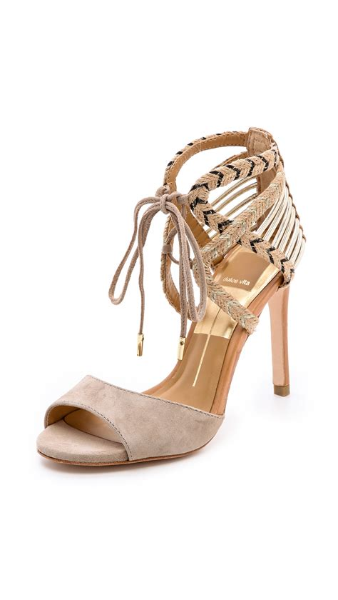 Plead For Mercy From Moda In Pelle by Dolce Vita Hexen Lace Up Sandals In Lyst