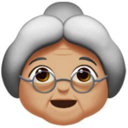 old woman: medium light skin tone emoji (u+1f475, u+1f3fc)