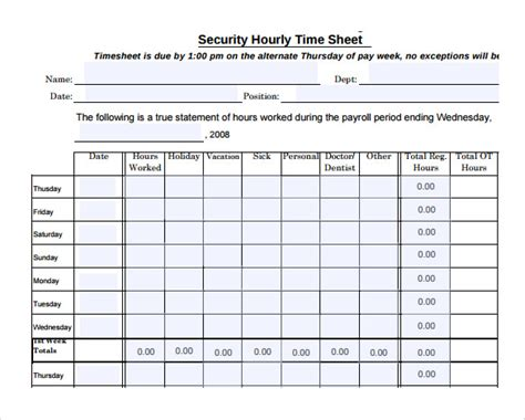 hourly timesheet calculator 11 hourly timesheet calculators 11 free sle