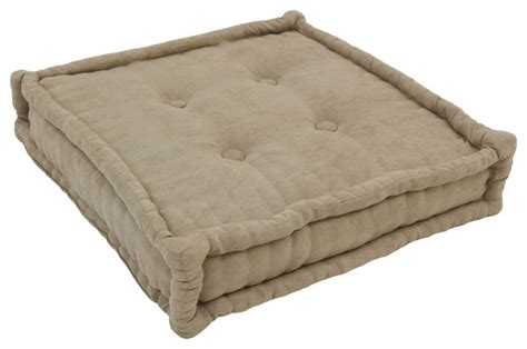 Square Floor Pillow by 20 Inch Square Corded Floor Pillow With Button Tufts