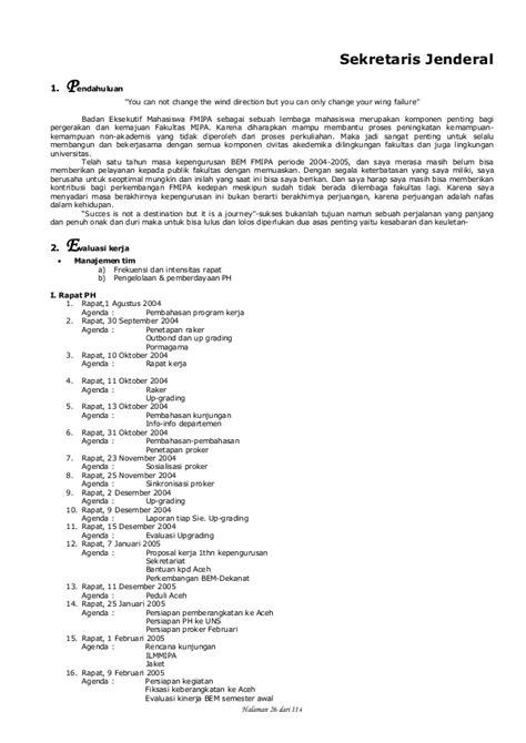 Cara Bikin Notulen by Laporan Pertanggungjawaban Kerja Bem Fmipa Ugm 2004 2005