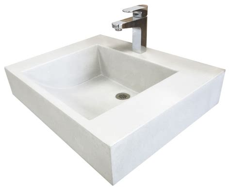 floating bathroom sinks 24 quot ada floating cado concrete sink antique white modern