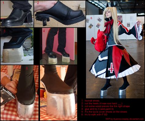 tutorial cosplay alucard rachel alucard shoes wip by ayanna workshop on deviantart