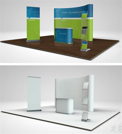 booth design mockup trade show booth mock up 01 02 on behance
