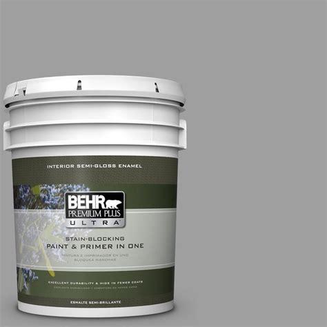 behr paint behr premium plus ultra 5 gal ppu11 16 brton gray satin enamel interior paint 775405 the