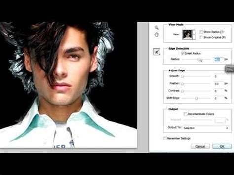 photoshop cs5 tutorial refine edge tool 17 best images about photoshop refine edge tool hair etc