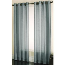 solid blue curtains shop allen roth edistone 84 in l solid blue grommet