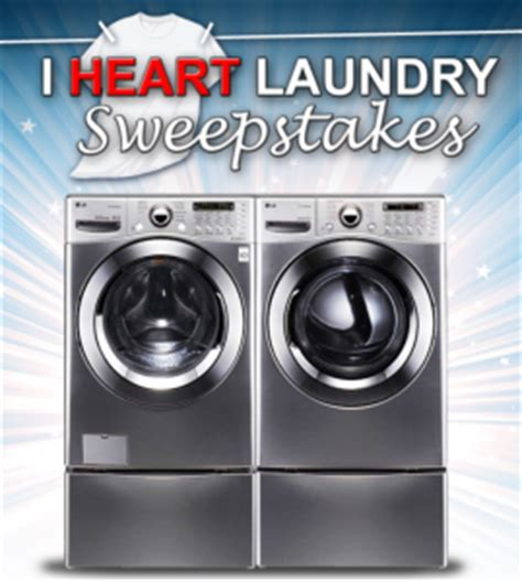 Newegg Giveaway 2016 - newegg quot i heart laundry quot sweepstakes win a lg front load washer and dryer set