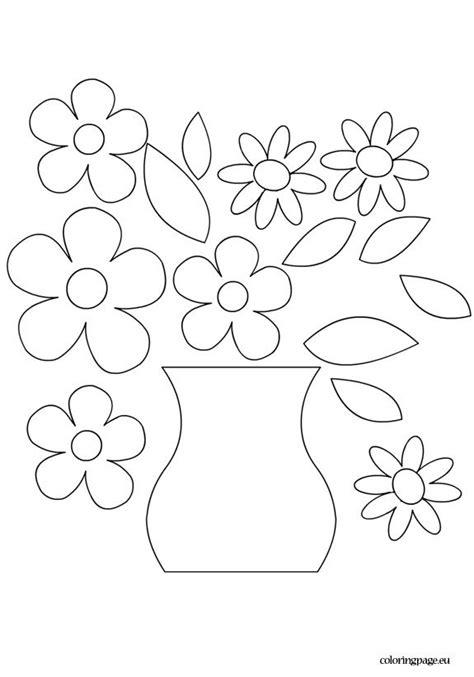 flower vase template vase crafts flower printable
