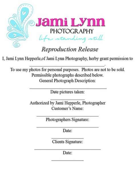 Copyright Release Letter Photography Copyright Release Form Paper Size Jami Hepperle Flickr