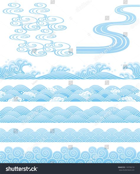 wave pattern en francais japanese traditional wave stock vector 118790218