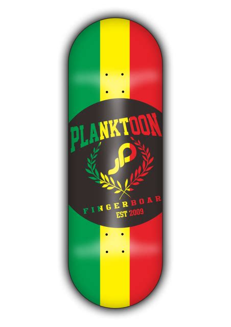 Planktoon Fingerboard Top Dual Set Deck Collection planktoon deck limited quot rasta quot pdl07