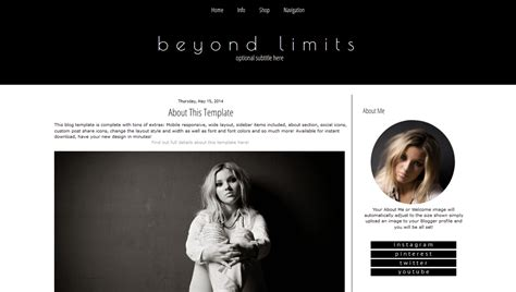 Blogger Themes White | black and white blogger template