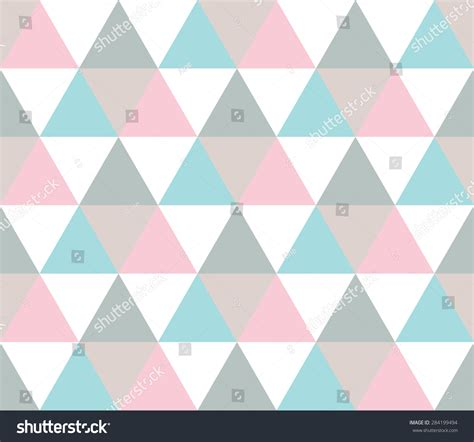 pattern pastel triangle pastel seamless geometric pattern white blue stock vector