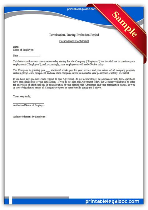 termination letter return company property free printable termination regular employee form generic