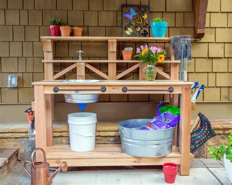 build potting bench how to make a gardener s potting bench how tos diy