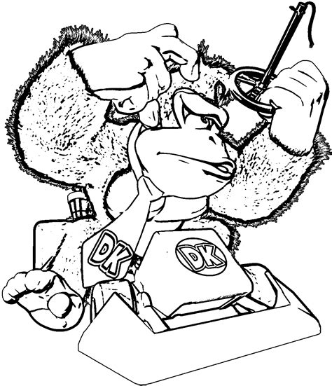 Donkey Kong Coloring Pages To Print Coloring Home Kong Coloring Pages To Print