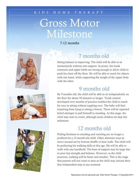 motor skills 12 months gross motor milestone 7 12 months child development