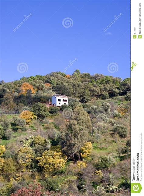 house in side of hill single house on the side of a hill stock image image 678571