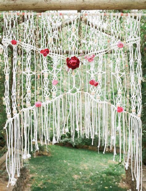 Wedding Backdrop Design Philippines by 15 Macrame Wedding Backdrop Ideas The Bohemian Wedding