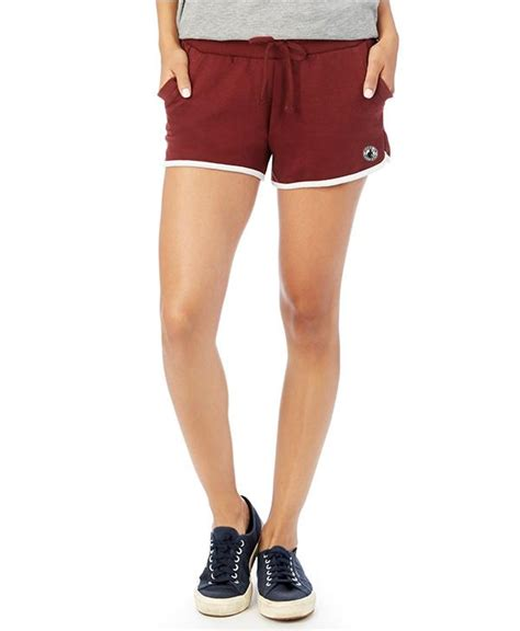 Terry Patch Maroon mid s vintage terry track shorts black or maroon made in detroit