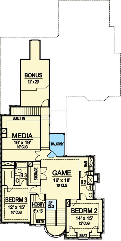 floor plan games home theater and a game room 36214tx architectural