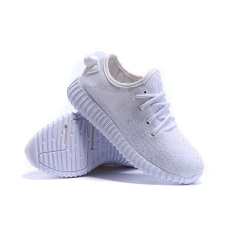 adidas kanye west yeezy 350 boost all white sneakers