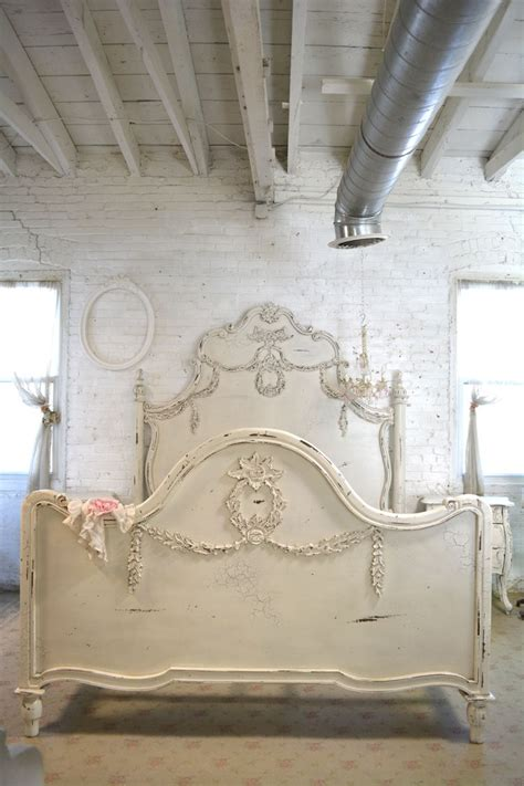 shabby chic king headboard painted cottage shabby chic french romantic queen king