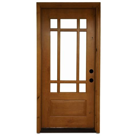 Steves Sons 36 In X 80 In Craftsman 9 Lite Stained 9 Lite Exterior Door