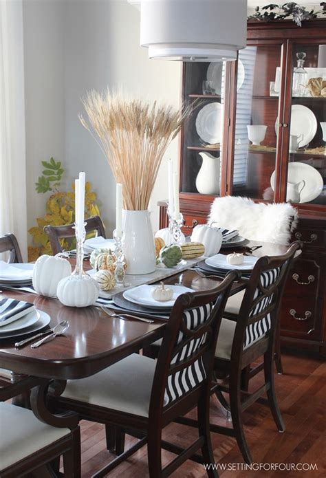 Decorating Ideas For Lounge And Dining Room by Fall Home Tour Part Two Setting For Four