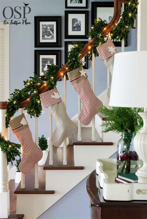 christmas home decorations ideas 40 festive christmas banister decorations ideas all