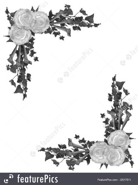 Wedding Background Black And White by Templates Black And White Floral Border Stock