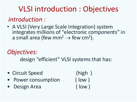 large scale integration vlsi design vlsi design summer ppt
