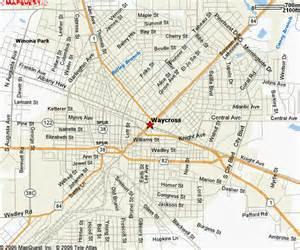 waycross ga downtown maps
