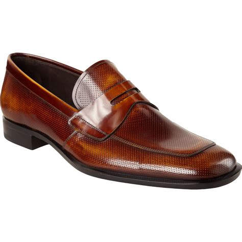 prada loafer prada perforated apron toe loafer in brown for