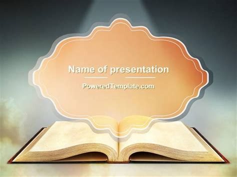 Open Bible With Light Rays Powerpoint Template By Poweredtemplate Authorstream Bible Powerpoint Template
