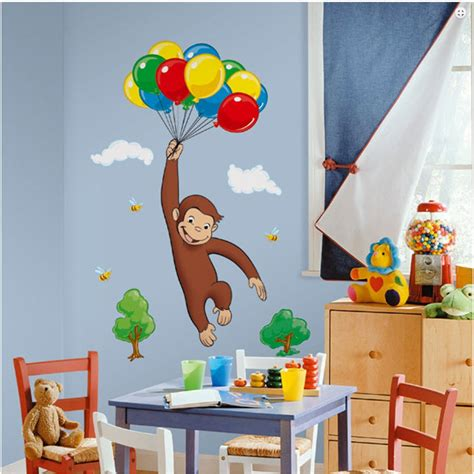 Curious George Decorations curious george wall decal room stickers