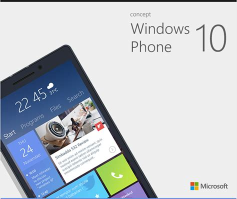home design windows phone windows phone 10 design concept with reved start screen notification center and more