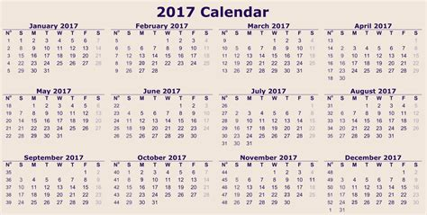 E Calendar 2017 Free Large Printable Calendars Calendar Template 2016
